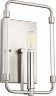 Quorum 5114-1-65 Optic Contemporary Satin Nickel Sconce Lighting