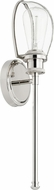 Quorum 517-1-62 Menlo Contemporary Polished Nickel Wall Sconce