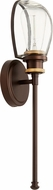 Quorum 517-1-8086 Menlo Modern Aged Brass w/ Oiled Bronze Wall Lamp