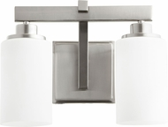 Quorum 5207-2-65 Lancaster Modern Satin Nickel 2-Light Bathroom Vanity Light