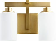 Quorum 5207-2-80 Lancaster Contemporary Aged Brass 2-Light Bathroom Sconce