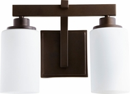 Quorum 5207-2-86 Lancaster Modern Oiled Bronze 2-Light Bath Sconce