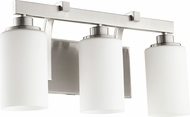 Quorum 5207-3-65 Lancaster Contemporary Satin Nickel 3-Light Vanity Light Fixture
