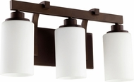 Quorum 5207-3-86 Lancaster Contemporary Oiled Bronze 3-Light Bathroom Vanity Light Fixture