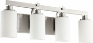 Quorum 5207-4-65 Lancaster Modern Satin Nickel 4-Light Bathroom Wall Sconce