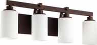 Quorum 5207-4-86 Lancaster Modern Oiled Bronze 4-Light Bathroom Light Sconce