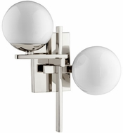 Quorum 528-2-62 Atom Modern Polished Nickel w/ Opal Sconce Lighting