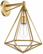 Quorum 5311-1-80 Bennett Modern Aged Brass Wall Lighting
