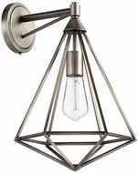 Quorum 5311-1-92 Bennett Contemporary Antique Silver Sconce Lighting