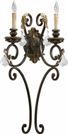 Quorum 5357-2-44 Rio Salado Toasted Sienna With Mystic Silver Sconce Lighting