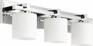 Quorum 5369-3-14 Craftsman Chrome 3-Light Bathroom Lighting