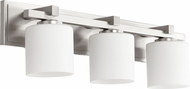Quorum 5369-3-65 Mission Satin Nickel 3-Light Bathroom Lighting Sconce