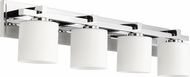 Quorum 5369-4-14 Mission Chrome 4-Light Lighting For Bathroom