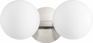 Quorum 539-2-65 Modern Satin Nickel 2-Light Lighting For Bathroom