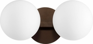 Quorum 539-2-86 Contemporary Oiled Bronze 2-Light Bathroom Light