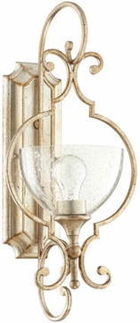 Quorum 5414-1-60 Ansley Traditional Aged Silver Leaf Wall Sconce Lighting