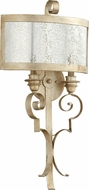 Quorum 5481-2-60 Champlain Traditional Aged Silver Leaf Lighting Wall Sconce