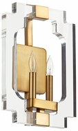Quorum 555-2-80 Broadway Contemporary Aged Brass Light Sconce
