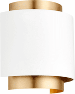 Quorum 5610-0880 Modern Studio White with Aged Brass Wall Sconce