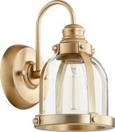 Quorum 586-1-80 Modern Aged Brass Wall Mounted Lamp