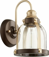 Quorum 586-1-8086 Contemporary Aged Brass w/ Oiled Bronze Wall Light Sconce