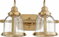 Quorum 586-2-80 Modern Aged Brass 2-Light Bath Sconce