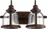 Quorum 586-2-86 Modern Oiled Bronze 2-Light Vanity Lighting Fixture