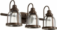 Quorum 586-3-86 Contemporary Oiled Bronze 3-Light Bathroom Lighting Sconce