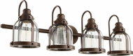 Quorum 586-4-86 Contemporary Oiled Bronze 4-Light Lighting For Bathroom