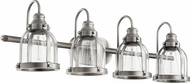 Quorum 586-4-92 Modern Antique Silver 4-Light Bath Lighting