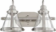 Quorum 587-2-65 Contemporary Satin Nickel 2-Light Bathroom Light