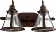 Quorum 587-2-86 Modern Oiled Bronze 2-Light Vanity Light