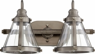 Quorum 587-2-92 Contemporary Antique Silver 2-Light Bath Light Fixture