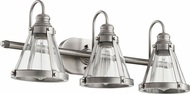 Quorum 587-3-92 Modern Antique Silver 3-Light Bathroom Sconce
