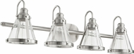 Quorum 587-4-65 Contemporary Satin Nickel 4-Light Bath Sconce