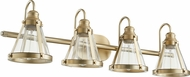 Quorum 587-4-80 Modern Aged Brass 4-Light Vanity Light Fixture