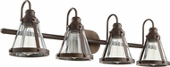 Quorum 587-4-86 Modern Oiled Bronze 4-Light Bathroom Vanity Light Fixture