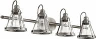 Quorum 587-4-92 Contemporary Antique Silver 4-Light Bathroom Wall Sconce