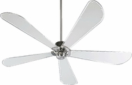 Quorum 59725-65 Dragonfly Contemporary Satin Nickel w/ Grey Mylar Blades 72  Home Ceiling Fan