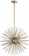 Quorum 600-8-60 Electra Contemporary Aged Silver Leaf 23  Pendant Lighting Fixture