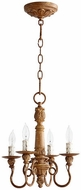 Quorum 6006-4-94 Salento French Umber Mini Lighting Chandelier