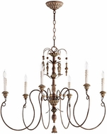 Quorum 6006-6-39 Salento Vintage Copper Chandelier Lamp