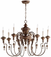 Quorum 6006-8-39 Salento Vintage Copper Hanging Chandelier