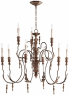 Quorum 6006-9-39 Salento Vintage Copper Lighting Chandelier