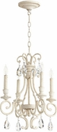 Quorum 6014-4-70 Ansley Traditional Persian White Mini Hanging Chandelier