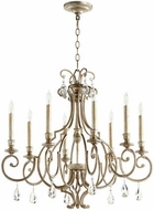 Quorum 6014-8-60 Ansley Traditional Aged Silver Leaf Lighting Chandelier