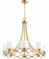 Quorum 6021-8-80 Durand Aged Brass Lighting Chandelier