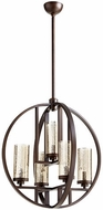 Quorum 603-5-86 Julian Contemporary Oiled Bronze 24  Hanging Light Fixture