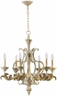 Quorum 6037-6-70 Florence Traditional Persian White Chandelier Lighting