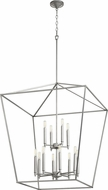 Quorum 604-12-64 Gabriel Modern Classic Nickel Foyer Lighting